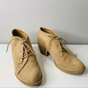 Rocket Dog Lace Up Booties Tan Size 8.5